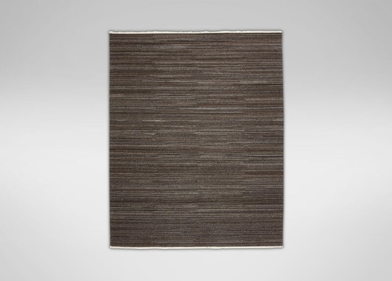 Wool Soumak Rug, Dark Gray ,  , large_gray