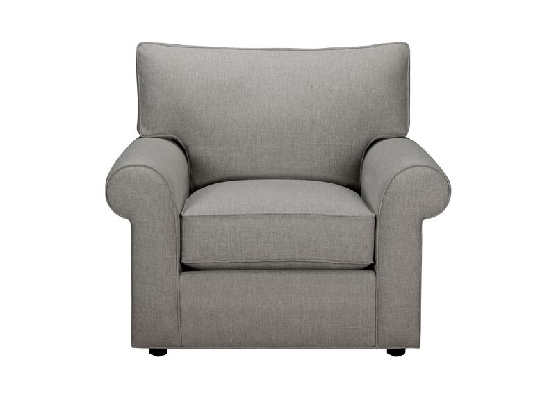 Retreat Roll-Arm Chair, Quick Ship , Hailey Slate (Q1054), solid texture , large_gray
