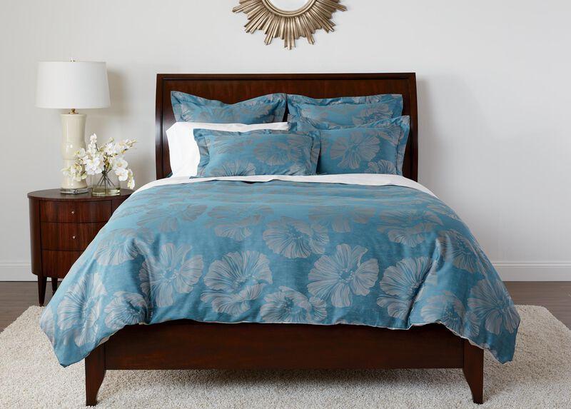 Susana Blue Floral Duvet Cover and Shams ,  , large_gray