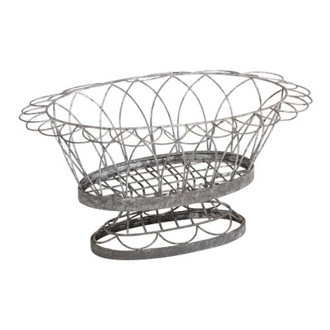 French Wire Oval Planter ,  , large