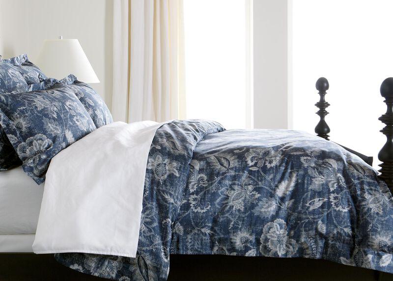 Monikka Blue Floral Duvet Cover ,  , large_gray