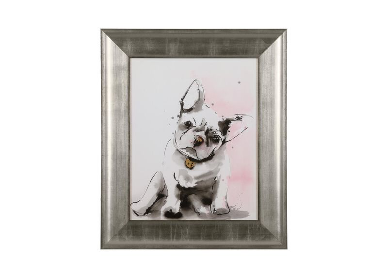 Glamour Dog Sketch II, Silver ,  , large_gray