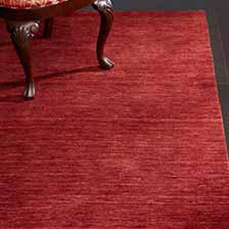 Loomed Wool Rug, Garnet Red ,  , hover_image