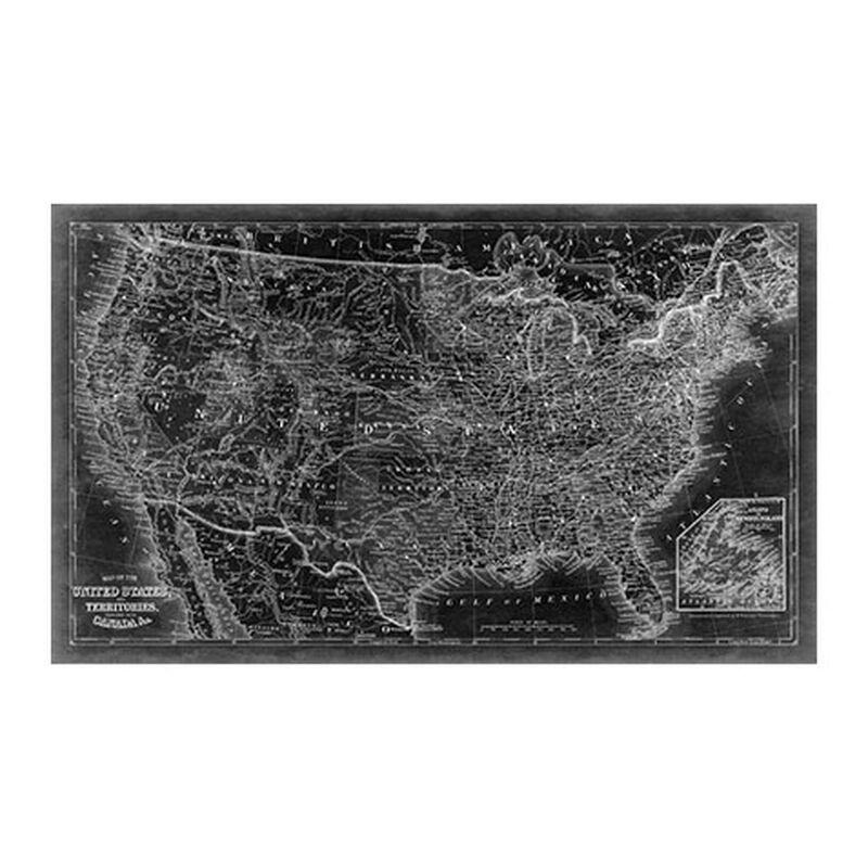United States Map Black ,  , large