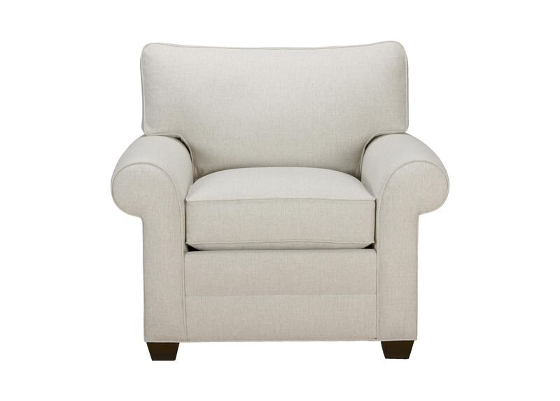 Bennett Roll-Arm Chair, Quick Ship , Hailey Ivory (Q1032), solid texture , large_gray