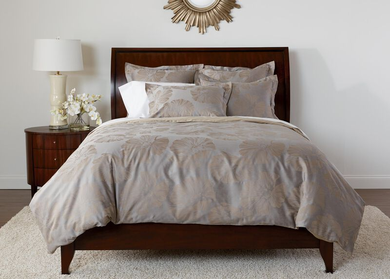 Susana Taupe Floral Duvet and Shams ,  , large_gray