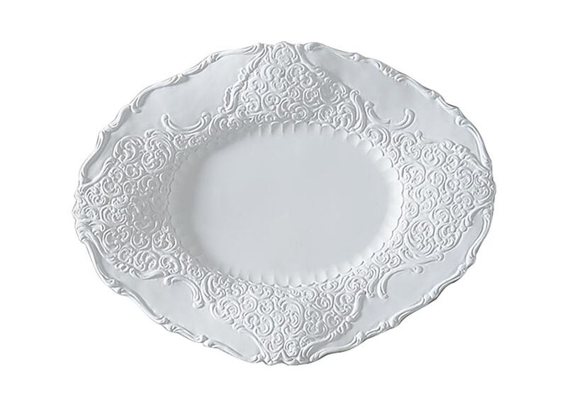 Large White Baroque Wall Plate at Ethan Allen in Ormond Beach, FL | Tuggl