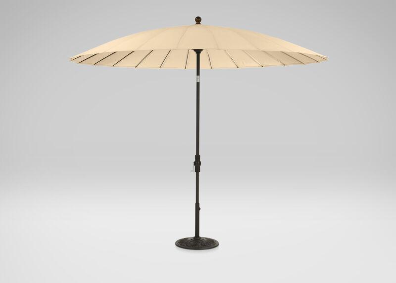 Khaki Shanghai Market Umbrella ,  , large_gray