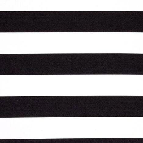 Horizontal Pop Stripe Mickey's Ears Black Fabric ,  , large