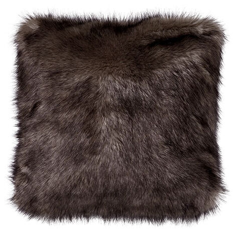 Faux Fur Wolf Pillow ,  , large