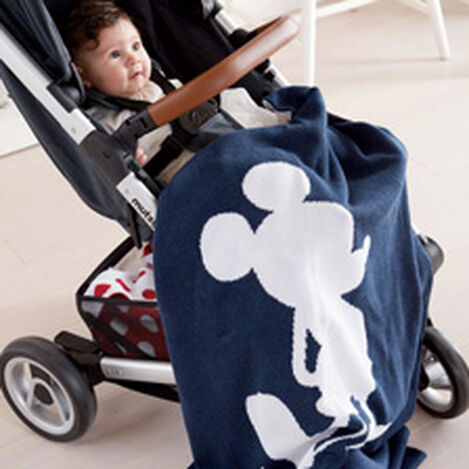 Mr. Mouse Stroller Blanket, Midnight ,  , hover_image