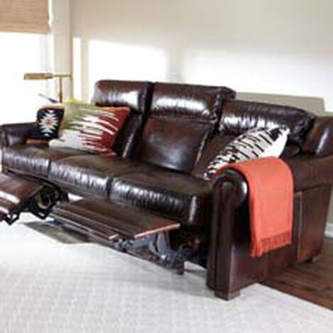 Johnston Roll-Arm Leather Incliner Sofa ,  , hover_image