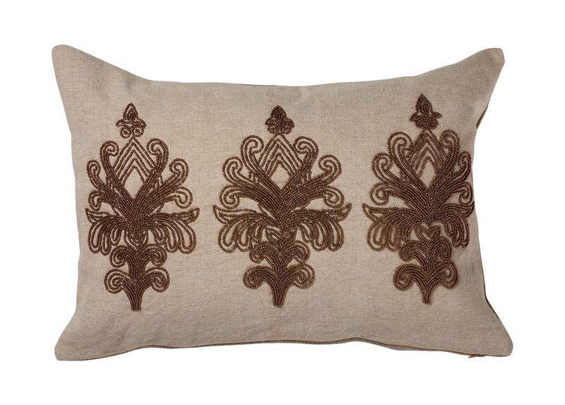 Beaded Scroll Pillow ,  , large_gray