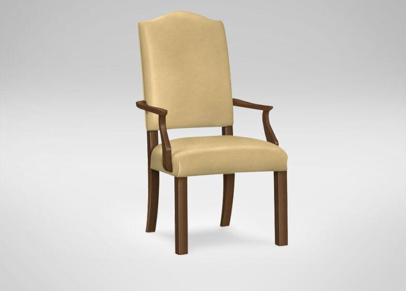 Hadley Parson-Leg Leather Armchair ,  , large_gray
