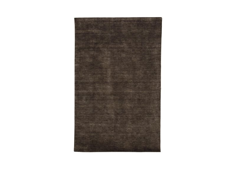 Loomed Wool Rug, Charcoal ,  , large_gray