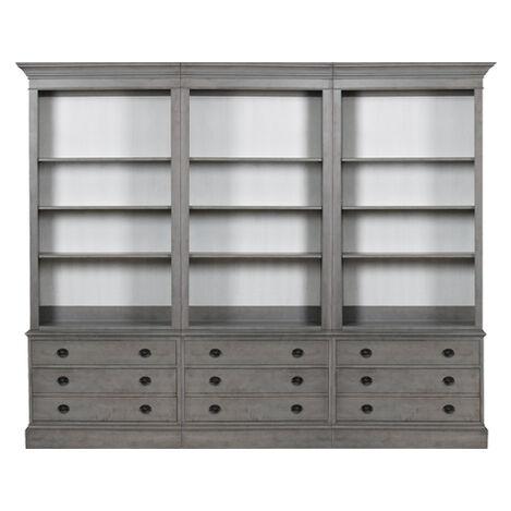 Villa Triple File Bookcase ,  , large