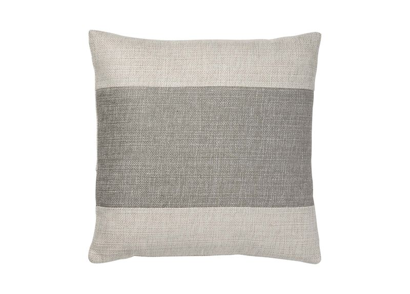Ivory/Gray Color Block Pillow ,  , large_gray