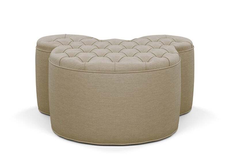 Mickey Mouse Ottoman , Zest Linen (D1031), strie texture , large_gray