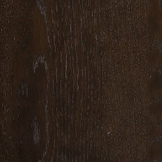 Burnt Umber (464): Cool dark brown stain with black undertones, lightly distressed, satin sheen.