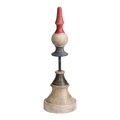 Large Rowan Wood Finial ,  , large