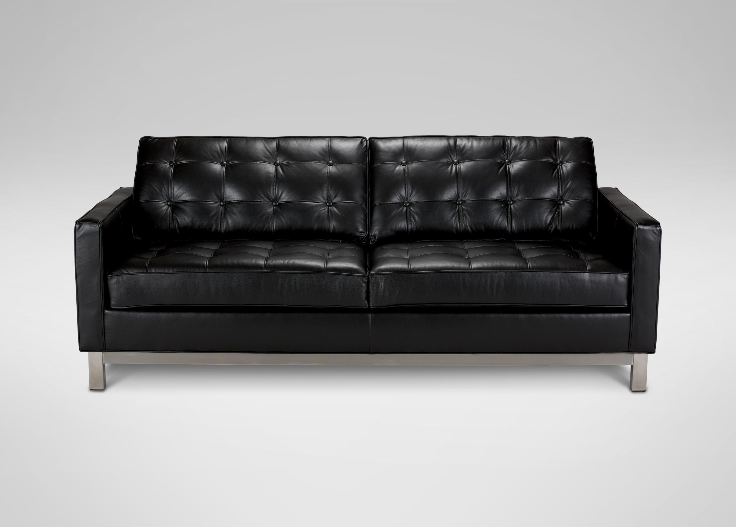 Great Images Melrose Leather Sofa , , Large_gray