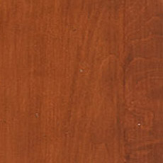 Cinnabar (260): Rich mahogany-toned stain with dark glaze, moderately distressed, worn edges.