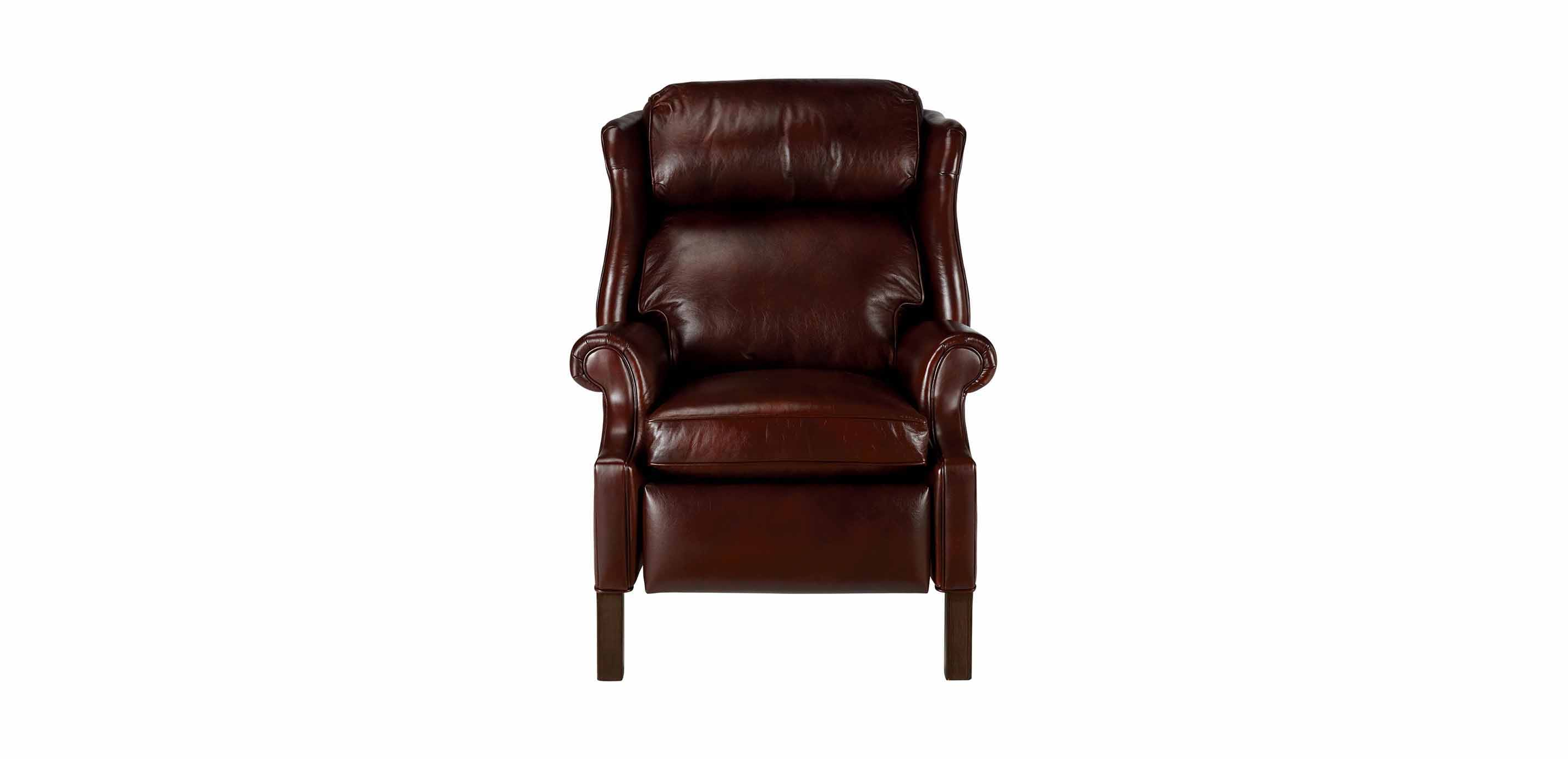 Townsend Leather Recliner Old English Chocolate