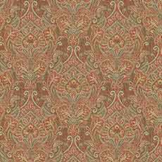 Faye Red (27200), cotton blend paisley