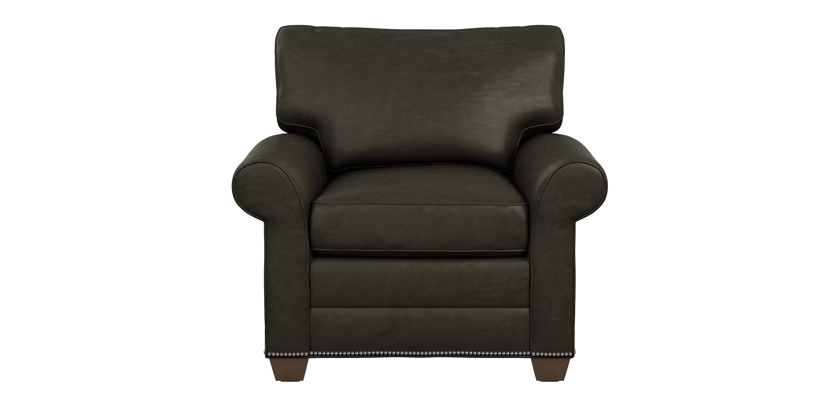 Bennett Roll Arm Leather Chair The Bennett Collection
