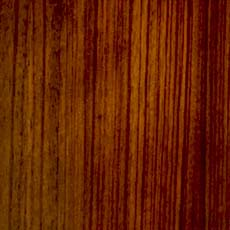 Dark Sable (309): Cool brown stain with natural variations; used on Zebrawood veneer.