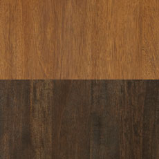 Charleston / Portland (543/545): Warm walnut-toned stain./Very deep cool brown stain, satin sheen.