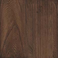 Darjeeling (374): Rich cool dark brown stain with dark glaze, spotted, heavily distressed, scraped, worn edges.
