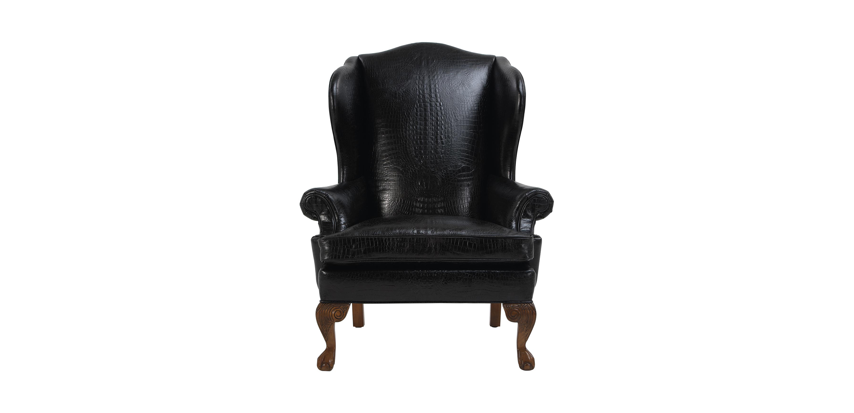 Images Giles Leather Chair , , Large_gray