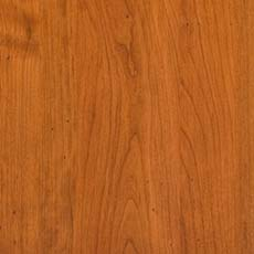 Rustique (357): Rich, warm brown stain, glazed, moderately distressed and antiqued, rasped edges.