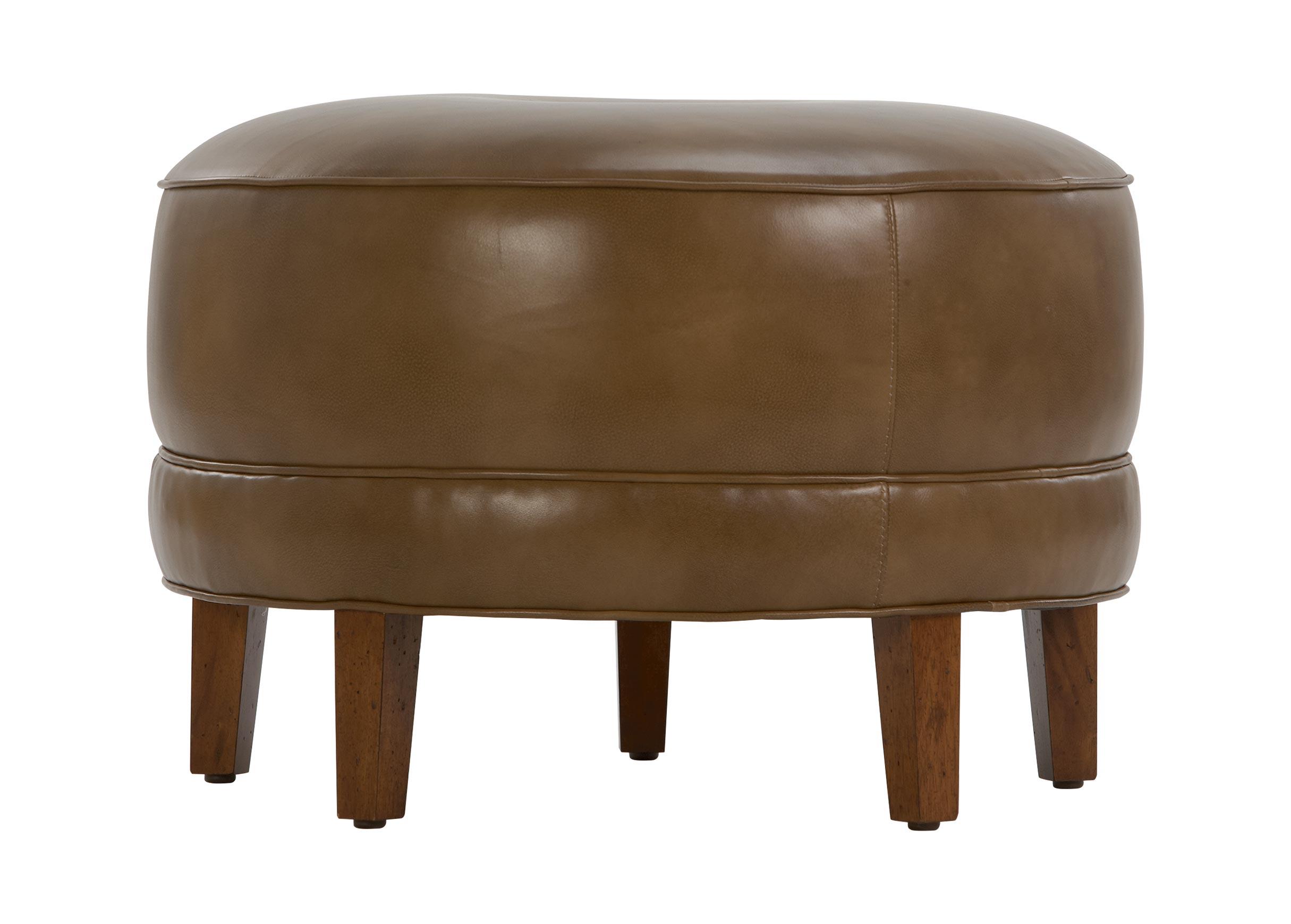 images nassau round leather ottomans largegray