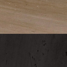 Earl Gray / Charcoal (364/612): Dark gray-brown stain with dark glaze, satin sheen./