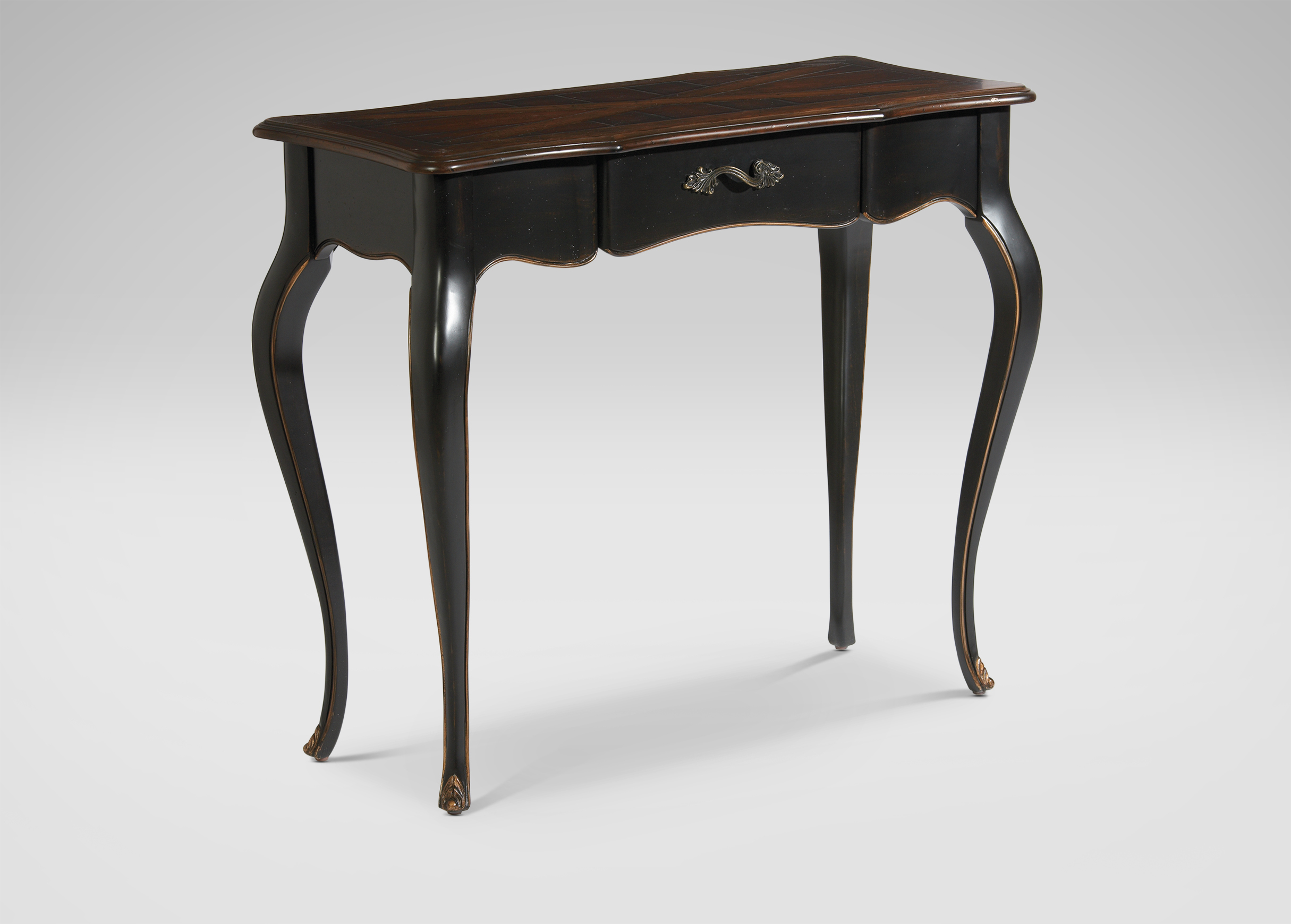 french black console table console tables. Black Bedroom Furniture Sets. Home Design Ideas