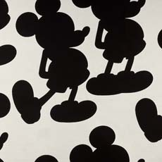 Mr. Mouse Mickey Ears Black (D2955), woven Mickey cowhide