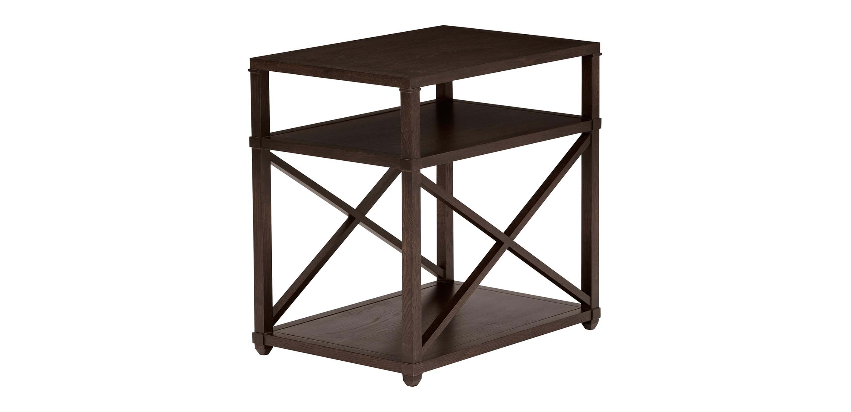 Images Highland Rectangular End Table Large Gray
