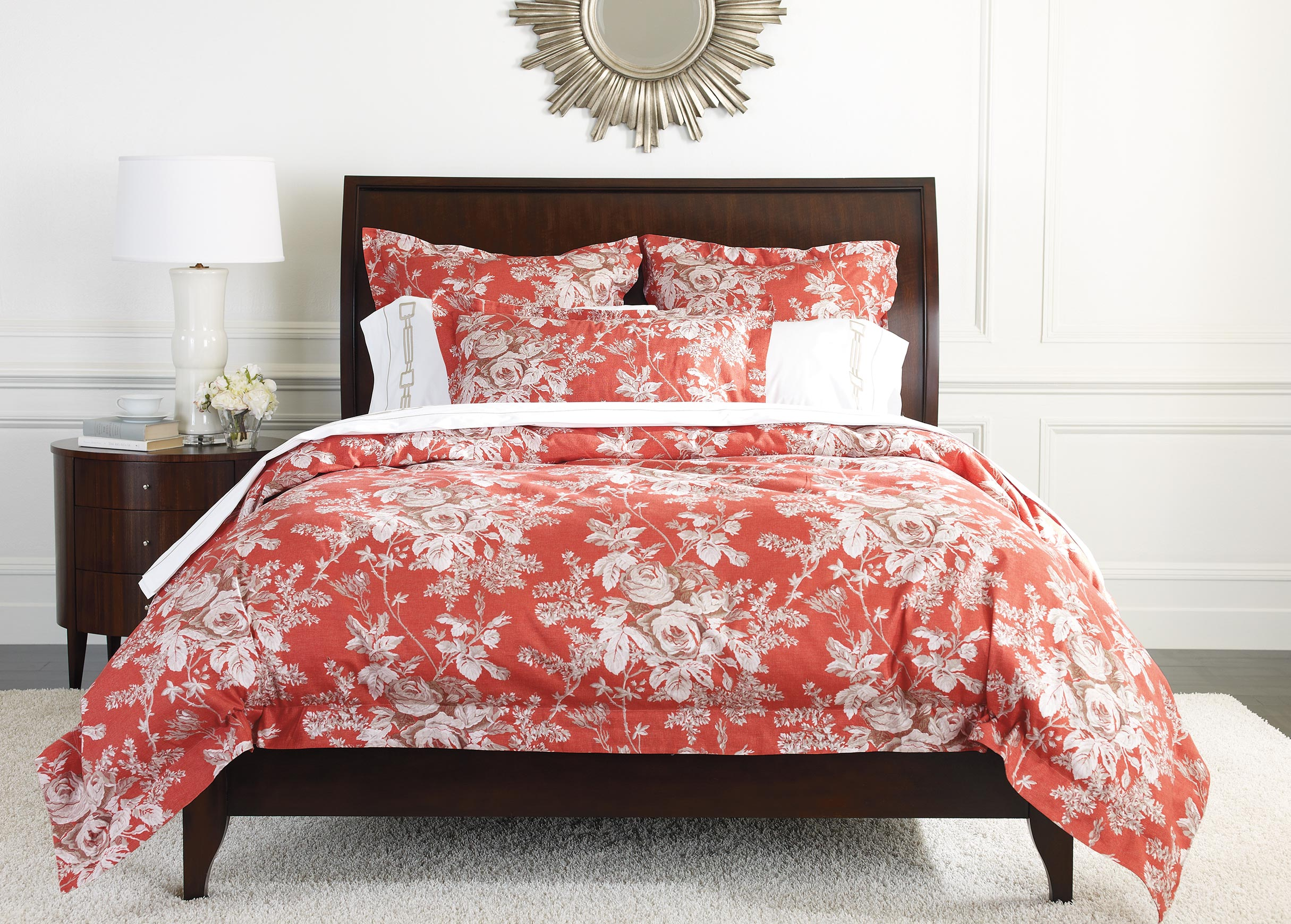 images ingrid floral duvet cover and shams largegray - Floral Duvet Covers