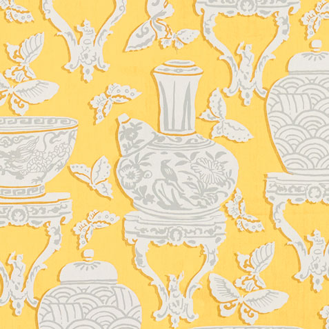 Ginger Jar Daffodil Fabric by the Yard ,  , large