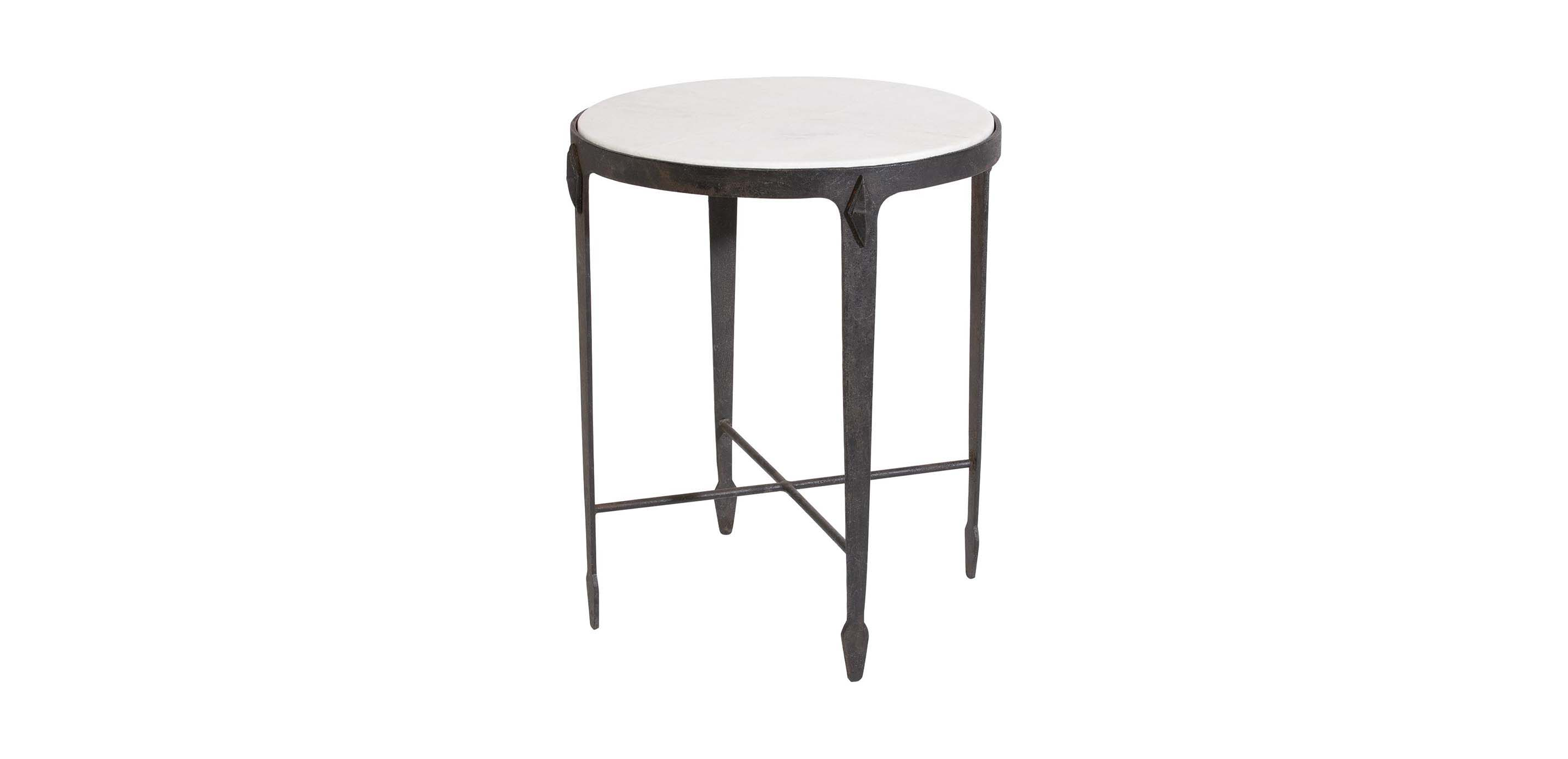 Lovely Images Jaca Marble Top Accent Table , , Large_gray