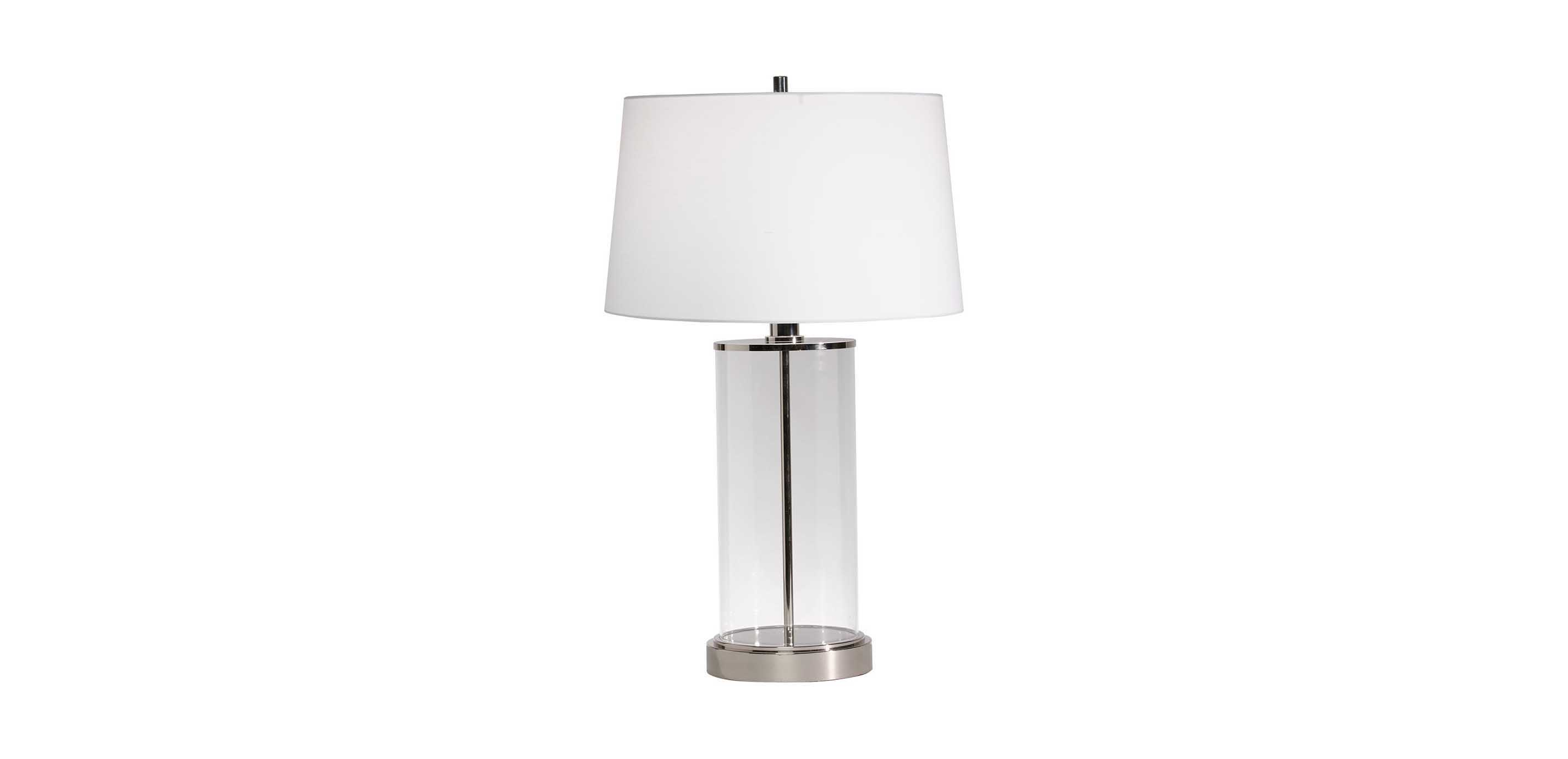 Images Glass Cylinder Table Lamp , , Large_gray