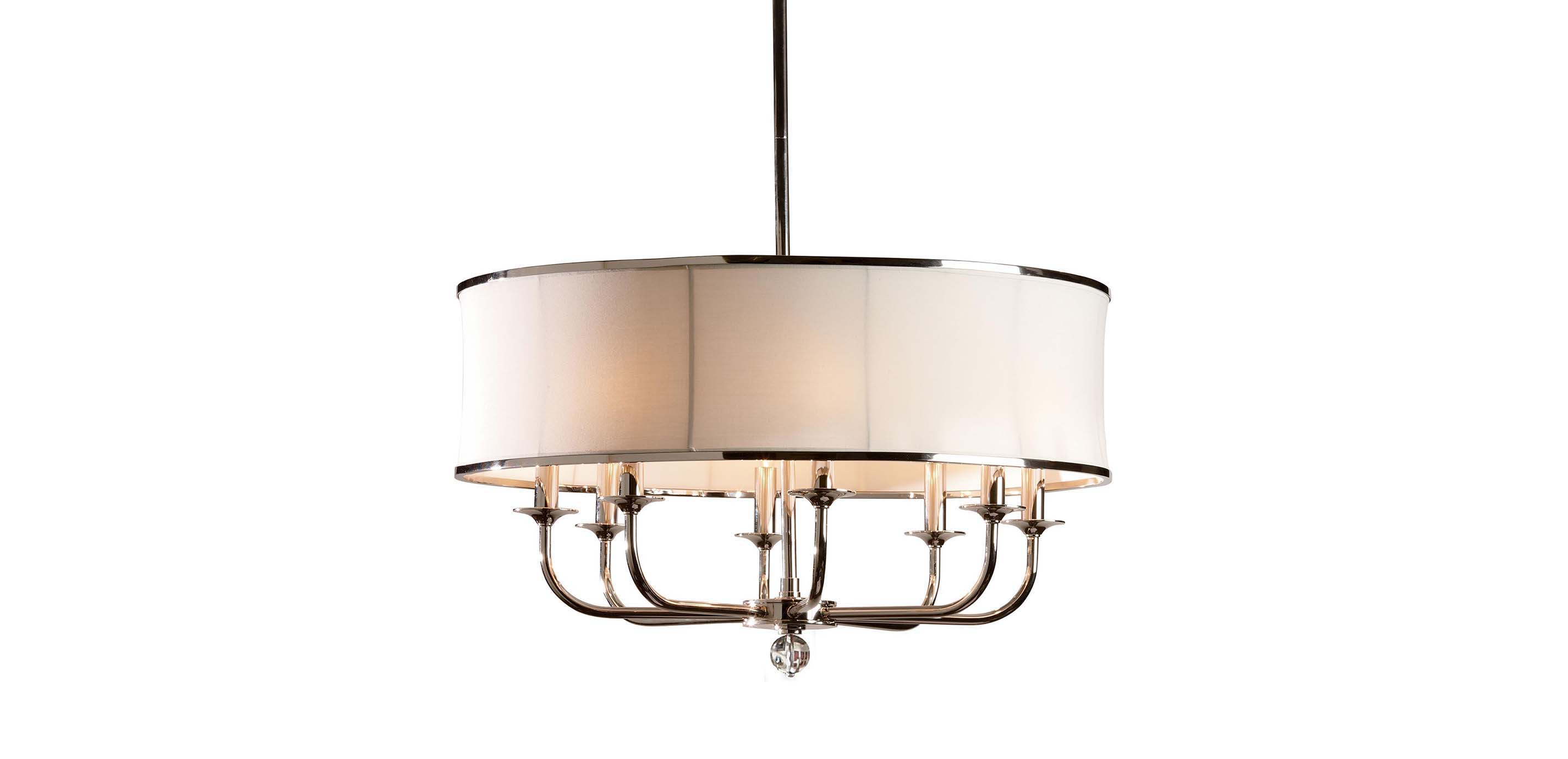 Zoe Eight Light Nickel Chandelier Chandeliers Ethan Allen