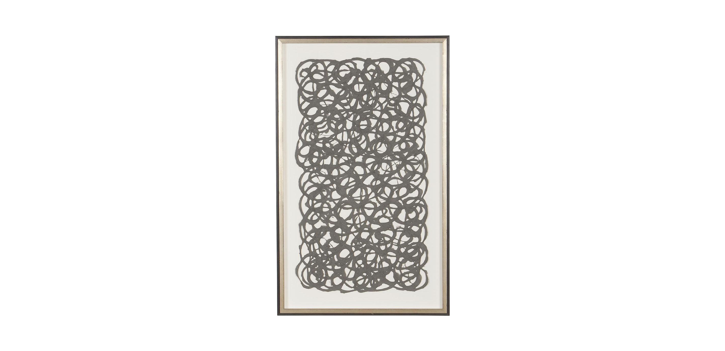 Ethan Allen Wall Art grey paper art   abstract