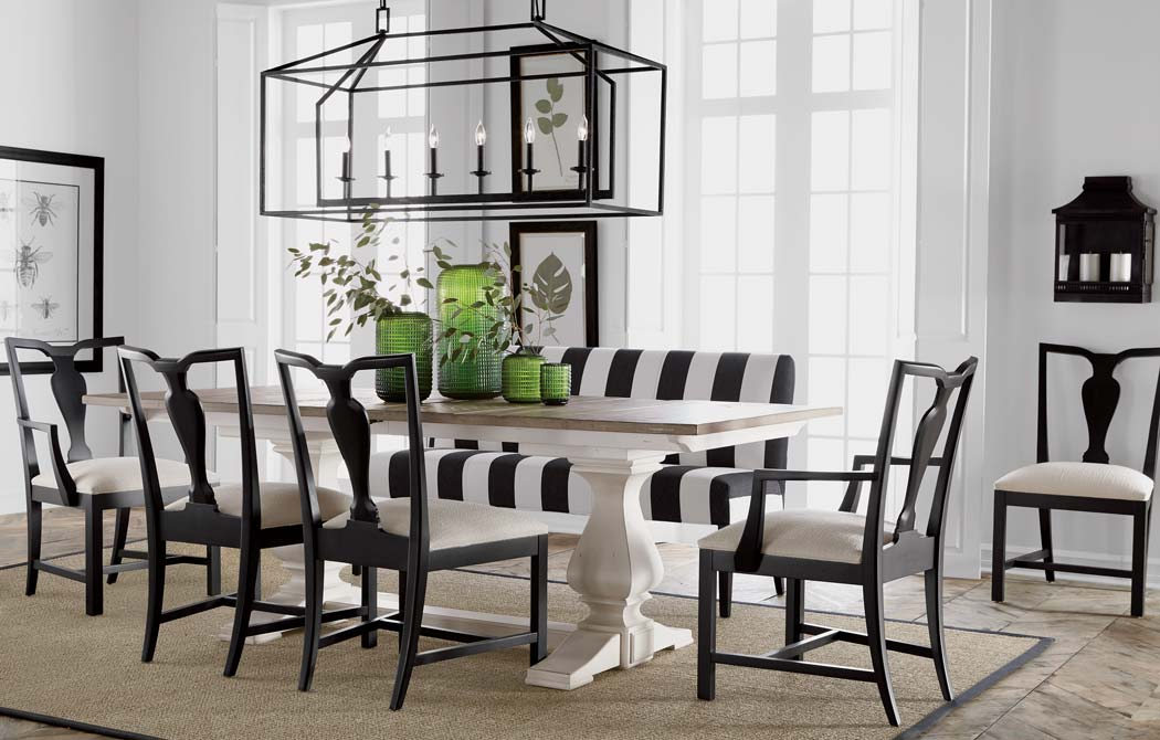 White dining room table - Back To Black And White Dining Room