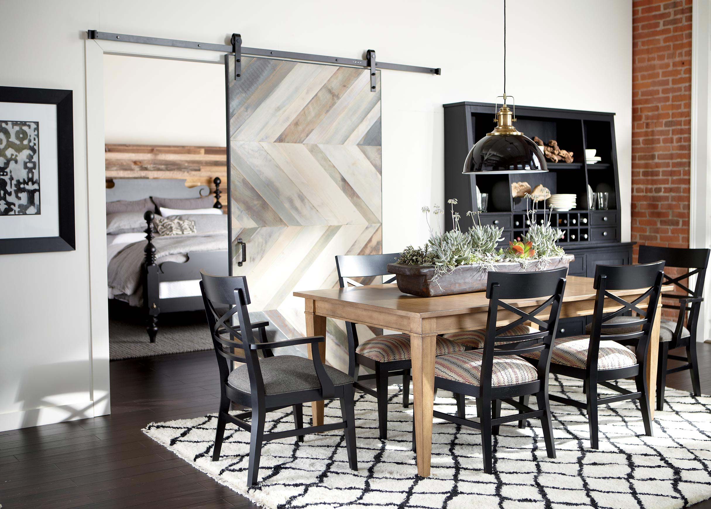 modern farmhouse dining room | ethan allen