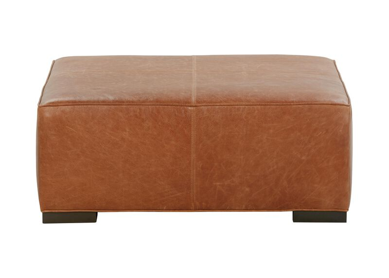 Miles Leather Cocktail Ottoman