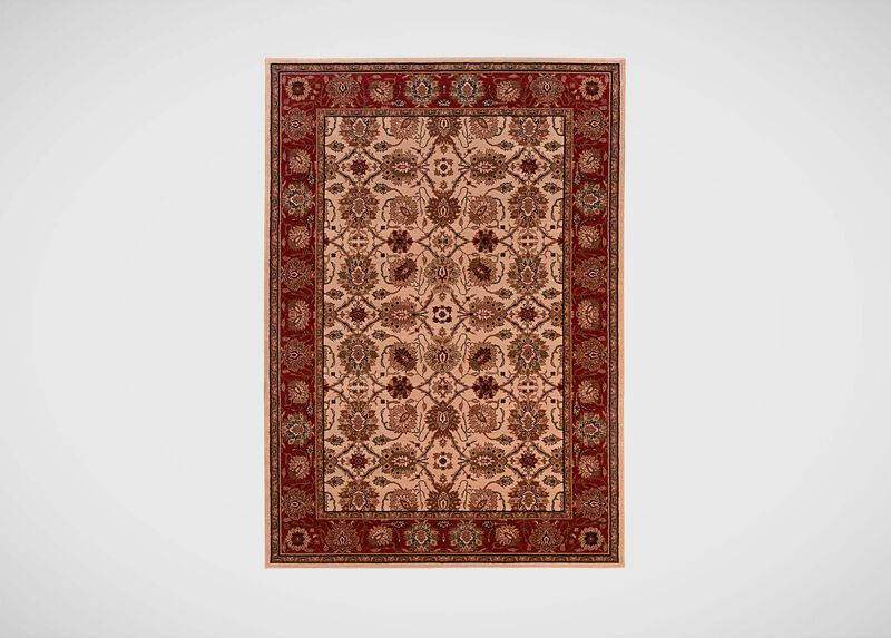 Sultanabad Area Rug, Ivory/Red ,  , large_gray