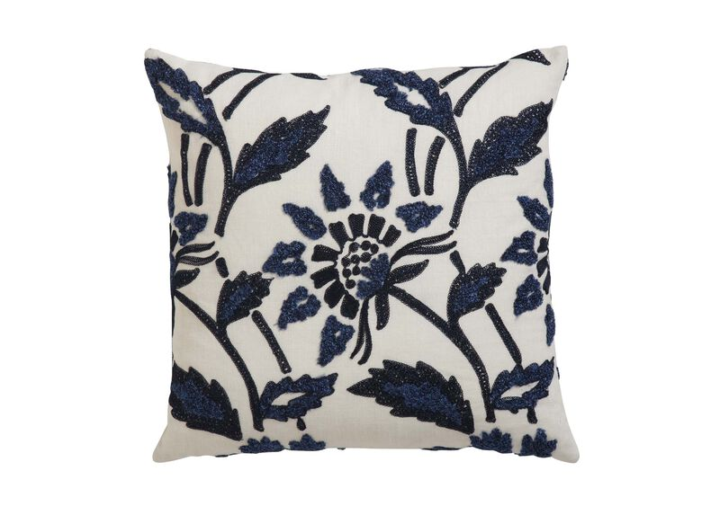 Bouclé Linen Pillow ,  , large_gray